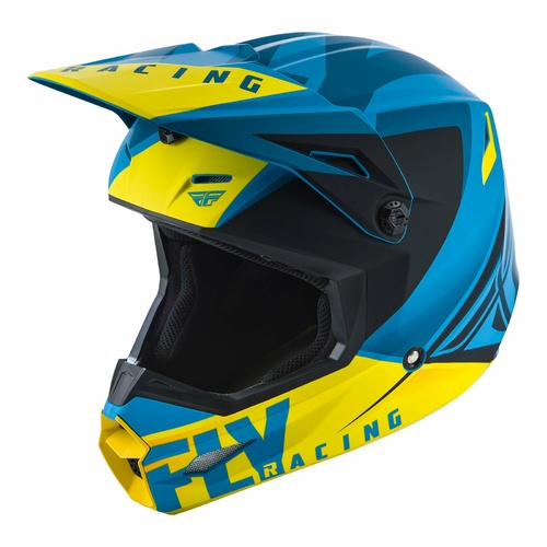 FLY 2019 Elite Vigilant Helmet (Blue/Black/Yellow)