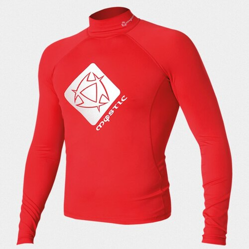 MYSTIC Star L/S Rash Vest (Red) - M